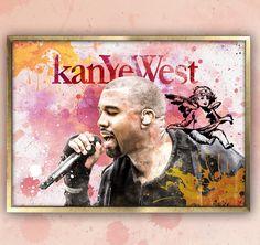 Kanye West Poster, Kanye West, Kanye West Art, Gifts for Musicians, Song Lyrics  Music Art, Gift for Musicians, Room Decor, Rapper, Yeezus by MusicSongsAndLyrics on Etsy