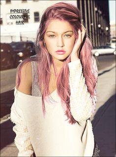 """impressive colourful hair"" - cute girl"