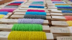 Winding yarn pegs is a great way to colour plan your crochet or knitting projects #crafternoontreats
