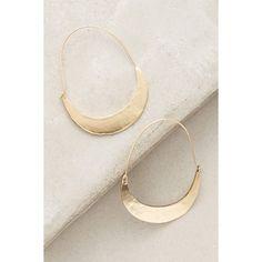Anthropologie Crescent Hoop Earrings AYke9M5y3k