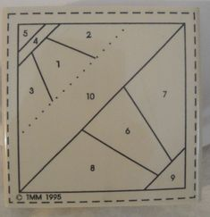 1995 Paper Piece Rubber Stamp Airplane Miniature Quilt Block Thoroughly Modern Minis