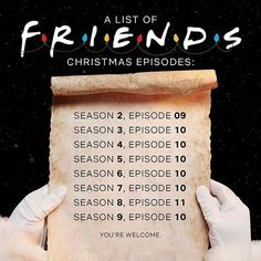 Thanks Netflix! Friends Tv Show, Tv: Friends, Friends Moments, Friends Series, Funny Friends, Friends Trivia, Friends Christmas Episode, Funny Christmas Movies, Christmas Humor