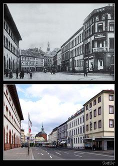 Kaiserslautern einst und heute - Fruchthallstraße