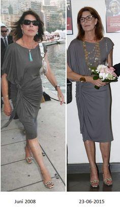 The lovely Princess Caroline of Monaco. Charlotte Casiraghi, Andrea Casiraghi, Grey Fashion, Royal Fashion, Fashion Beauty, Albert Von Monaco, Chic Outfits, Fashion Outfits, Fashion Over 40