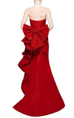 Oscar de la Renta silk gown