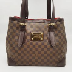 14d6b2410e12 Preloved Louis Vuitton Hampstead MM Damier Ebene Coated Canvas Gold  Hardware. Bag