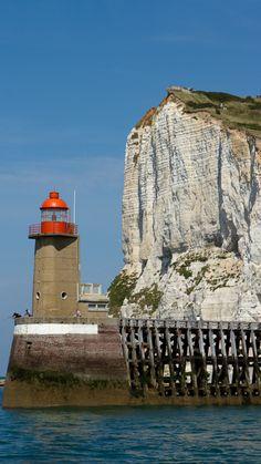 Port Fécamp Lighthouse, Upper Normandy, France- by Sébastien FERRAND White Light, Marina, Balise, Light Of The World, Tower, Lighting, Beacon Of Hope, Beacon Of Light, Travel