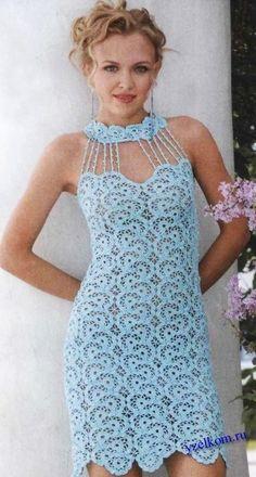 Ажурное платье из кружевных полос