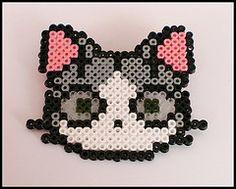 Gato (TodoHama) Tags: cat beads broche gato pixel hama perler manualidades cuentas pyssla