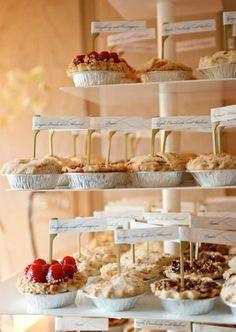 Adorable Mini Pie Recipes  ~~~ Pumpkin, Chocolate, Chocolate Pecan, Lemon, Lemon & Lime, Pecan, Strewberry Shortcake and more...