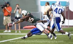 Almost there.... University of Miami Hurricanes vs Duke Blue Devils during an NCAA football game
