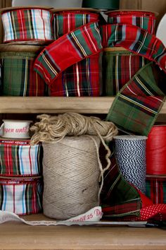 Now Serving Country House Style Daily! There are a thousand ways to put Country House style into your life – it comes down to the details. All those thoughtful littles add up to One. Tartan Christmas, Christmas Store, Christmas Wrapping, Christmas Holidays, Christmas Crafts, Christmas Decorations, Holiday Decorating, Merry Christmas, Hygge