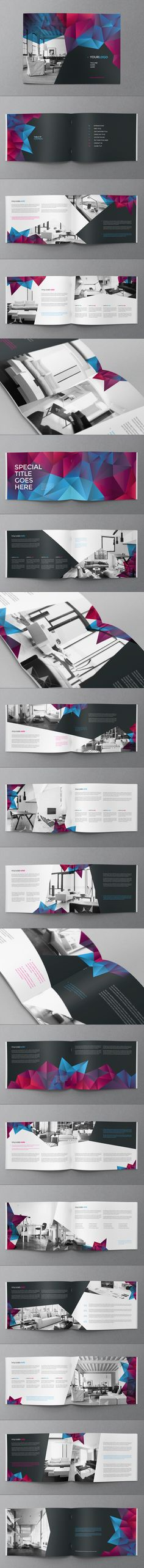 Buy Cool Modern Brochure by AbraDesign on GraphicRiver. COOL MODERN BROCHURE This brochure is an ideal way to showcase your business in an original way. Layout Design, Design Typo, Graphisches Design, Design Poster, Print Layout, Print Design, Logo Design, Branding Design, Modern Design