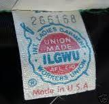 union label / 1974 - 1995 ILGWU Garment Label #ILGWU