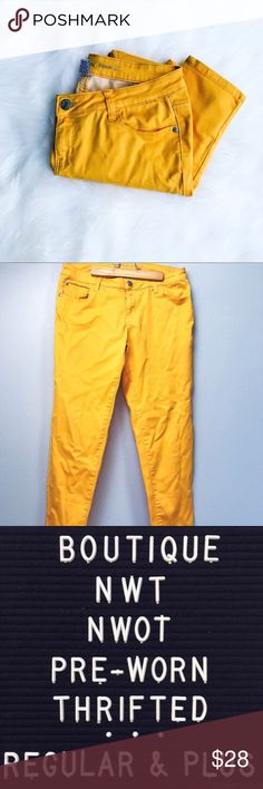Mustard Yellow Color Pop Skinny Jeans Mustard yellow skinny jeans. Add a fun pop of color to your fall wardrobe! In excellent pre-loved condition.  ✅Bundle & Save 🚫Trades 🚫Off-Posh 🚫Modeling  💞Shop with ease; I'm a Posh Ambassador.💞 Celebrity Pink Jeans Skinny