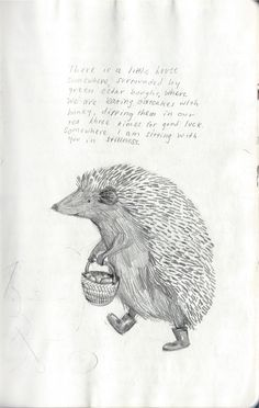 limilee:    thevintaquarian:phoebe-bird: From my (Phoebe Wahl) sketchbook, spring 2012