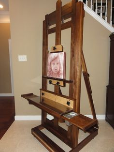 A painter's easel for Chad's mom!