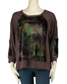 Velvet French Terry Sweatshirt, Main View