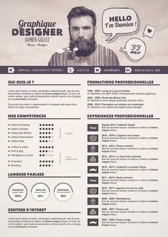 50 Simple & Creative Resume (CV) Design Ideas / Examples For 2017 & Beyond Graphic Design Resume, Cv Design, Nail Design, Design Ideas, Layout Design, Cv Template, Resume Templates, Conception Cv, Cv Photoshop