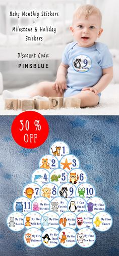 All Pro Baby Monthly Stickers 30% OFF in October!