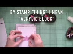 How to make your own Hinged Stamping Tool/ Stamp Positioner