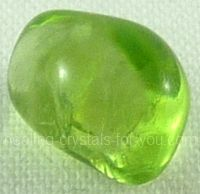 Peridot - It will enable you to learn how to be happy more easily. This energy will flow through you and correct problems... and aid you wherever needed.    Its unique vibration brings through spiritual energies that will bless and energize your life. It is a heart chakra stone with a vibration that is calming to the body... and helps to aid you to have a positive outlook on life.
