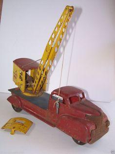 Marx Magnetic Crane Hook Press Steel Construction Toy Parts Restoration  #Marx