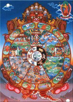 Tibetan Buddhism ☸️ sand mandala buddha of compassion Tibetan Mandala, Tibetan Art, Tibetan Buddhism, Buddhist Wheel Of Life, Karma, Vajrayana Buddhism, Buddhist Philosophy, Buddhist Traditions, Buddha Art