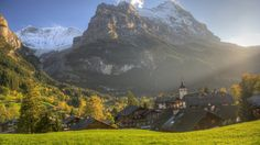 Landscape 4K Ultra HD Wallpaper  | Landscape and Travel to Grindelwald HD Wallpapers. 4K Wallpapers
