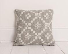 Melin Tregwynt St David's Cross Cushion in Silver