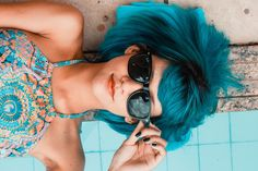 Tired of that bold shade of color you dyed your hair? If so, you might be wondering how to remove permanent hair dye naturally. Here's a look and some tips and tricks, plus a sure-fire … Blue Sunglasses, Sunglasses Women, Sports Sunglasses, Sunglasses Sale, Tumblr Bff, Mein Style, Brian Atwood, Facon, Dyed Hair
