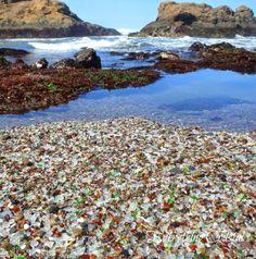 Sea Glass Beach only found in Hawaii  and Cali #bucketlist for California