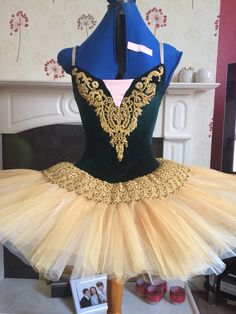 Forest green and gold tutu.