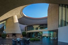 The home with the hole: The California house's unusual design makes it look like something out of a science fiction movie