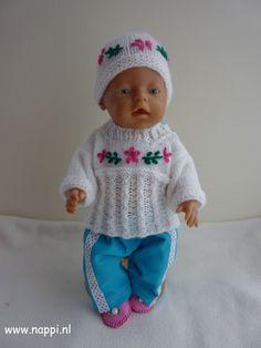 Winterkleding / Baby Born 43 cm | Nappi.nl  Eigen ontwerp.