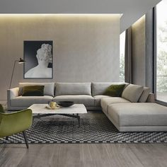 The French architect has designed a comfortable and sophisticated sofa with double cushioning. Conceived as a modular system, it offers compositional freedom. As well as a sofa, the system also includes tables, desks and poufs.
