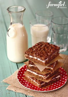 double chocolate marshmallow crispy bars