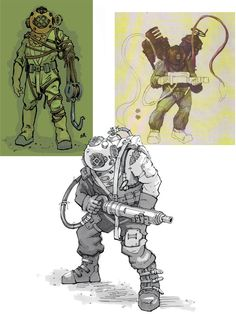 BioShock Art & Pictures,  Big Daddy Concepts
