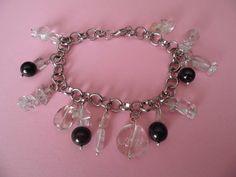 Bracciale con shungite e cristallo di rocca  Shungite and quartz bracelet