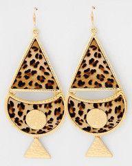 Urban Jungle Leopard Print Statement Earrings-$26-Find hot fashion jewellery and statement jewlry at Strike Envy. #jewellery #jewlry