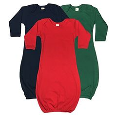 The Laughing Giraffe Unisex Baby Sleep Sack Gown 3Pack 03M NavyKelly Green Red -- Learn more by visiting the image link.