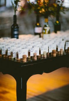 Metropolitan Building NYC Wedding ⋆ Ruffled Jess & Carmen's New York City Wedding Wedding Seating, Wedding Table Numbers, Wedding Reception, Wine Cork Wedding, Wedding Table Assignments, Reception Seating, Reception Ideas, Wedding Places, Wedding Tips