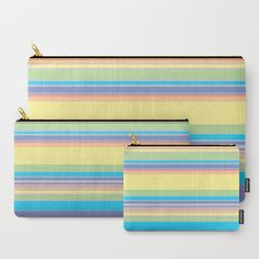 Complex Stripes - Pastel Rainbow Carry-All Pouch by laec Beautiful Bags, Pouch, Pastel, Stripes, Rainbow, Rain Bow, Cake, Rainbows, Porch