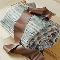 French Blue Striped Blanket