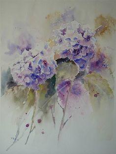 Aquarelles, Florence Mangin   Fleurs