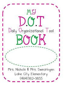 The Polka Dot Patch: D.O.T Book daily take home folder