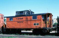 Amtrak Caboose Providence RI June 20, 1982