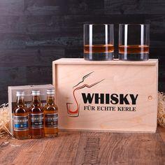Geschenk-Set mit 3 Flaschen Auchentoshan und 2 Whiskygläser