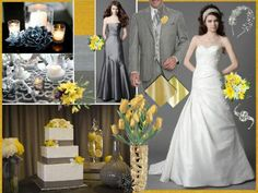 Yellow and grey color palette