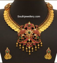 Antique Gold Kasu Mala Set photo